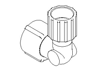 "Elbow Adapter, Reducer, ""SpaceSaver"", Reduced Footprint, PFA Plus"