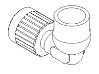 "Elbow Adapter, Reducer, PureBond® Pipe, ""SpaceSaver"""