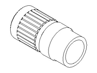 "Straight Adapter, Reducer, PureBond® Pipe, ""SpaceSaver"""
