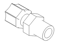 Straight Adapter, Integral Ferrule