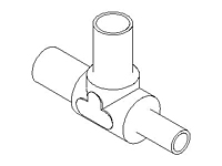 Welded Tube Tee Union, Reducer, PFA Plus